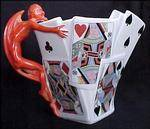 Royal Bayreuth Pitcher Devil in the Cards