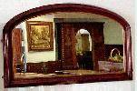 Victorian Mirror With Deep Walnut Frame