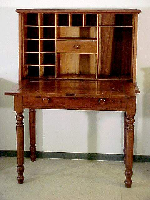Go to The Webmaster's Antiques home page. - Plantation Desk, Walnut The Webmaster's Antiques
